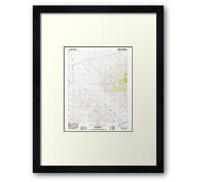 USGS TOPO Map California CA Budweiser Wash 100389 1984 24000 geo Framed Print