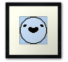 Boyo (Black Border - Black Mouth/Eyes) Framed Print