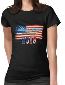 Donald Trump for presiden Womens Fitted T-Shirt
