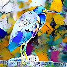 Great Blue Heron Abstract by Bunny Clarke