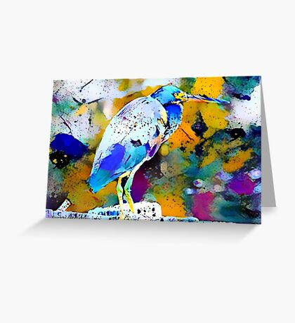 Great Blue Heron Abstract Greeting Card