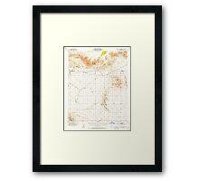 USGS TOPO Map California CA Chuckwalla Spring 297102 1953 62500 geo Framed Print