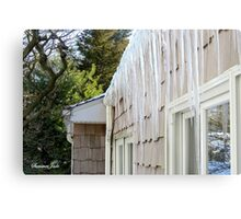 Baby, It's COLD Outside! ~ Icicles☺ Metal Print