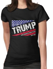 Donald Trump US Flag Womens Fitted T-Shirt