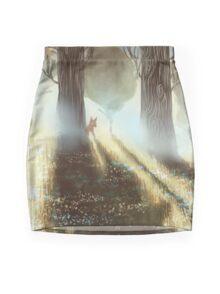 Between the Trees Mini Skirt
