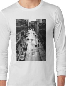 Birmingham City Centre, Edmund Street with Old library in background. Long Sleeve T-Shirt