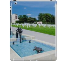 Water Feature in American War Cemetery, Luxembourg iPad Case/Skin