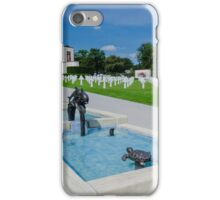 Water Feature in American War Cemetery, Luxembourg iPhone Case/Skin