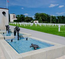 Water Feature in American War Cemetery, Luxembourg by Sue Martin