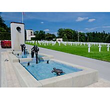 Water Feature in American War Cemetery, Luxembourg Photographic Print