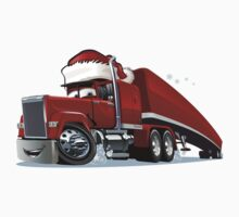 Cartoon Christmas Truck Kids Tee