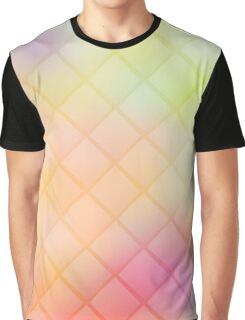 Colorful geometric background with rhombus on blurred gradient background Graphic T-Shirt