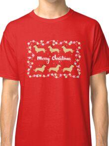 Dachshund Reindeers Merry Christmas! Classic T-Shirt