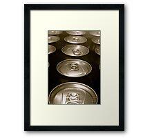 TIN CANS Framed Print