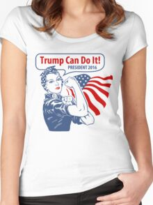 rosie-trump-can-do-it Women's Fitted Scoop T-Shirt