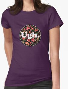 Ugh Floral Womens Fitted T-Shirt