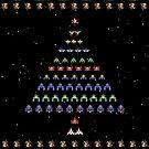 Galaga Christmas by RetroGameAddict