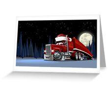 Cartoon Christmas Truck Greeting Card