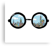 NYC Glasses  (Colored) Canvas Print