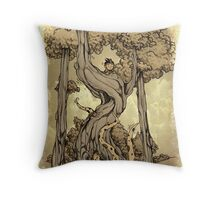 Dangerous tentacle! Throw Pillow
