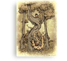 Dangerous tentacle! Canvas Print