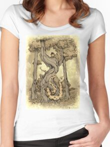 Dangerous tentacle! Women's Fitted Scoop T-Shirt