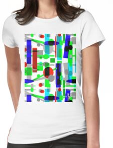 Geometric Shapes Geo Blast 1.3b by Hamlet Pericles Womens Fitted T-Shirt