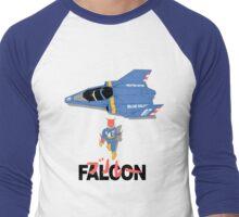 The Legendary Blue Falcon Men's Baseball ¾ T-Shirt