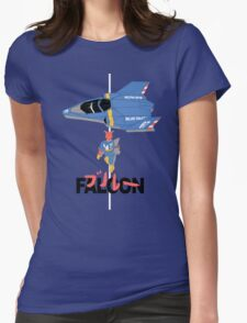 The Legendary Blue Falcon Womens Fitted T-Shirt