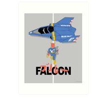 The Legendary Blue Falcon Art Print