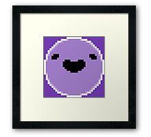 Boyo (White Border - Black Mouth/Eyes) Framed Print