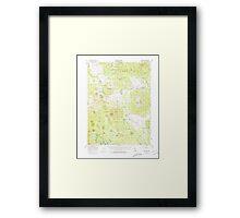 USGS TOPO Map California CA Harvey Mtn 297644 1956 62500 geo Framed Print