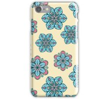Retro floral pattern with stylized flowers iPhone Case/Skin