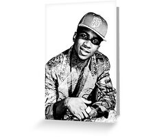 lil b halftone posterized basedgod based god Greeting Card