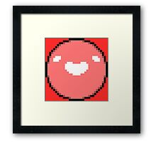 Boyo (Black Border - White Mouth/Eyes) Framed Print