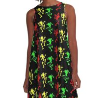 Positive vibration, Reggae soldiers no. 2 A-Line Dress