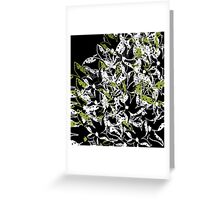 Green abstract floral design Greeting Card