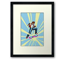 The most epic kickflip Framed Print