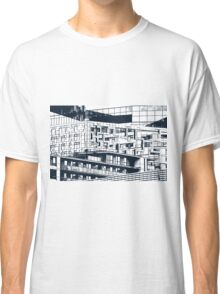 The Cube, Birmingham city centre UK architecture, digitally edited Classic T-Shirt