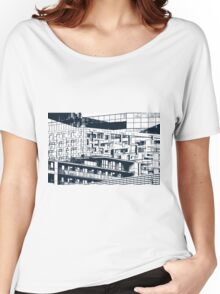 The Cube, Birmingham city centre UK architecture, digitally edited Women's Relaxed Fit T-Shirt