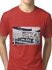 The Cube, Birmingham city centre UK architecture, digitally edited Tri-blend T-Shirt