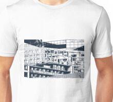 The Cube, Birmingham city centre UK architecture, digitally edited Unisex T-Shirt