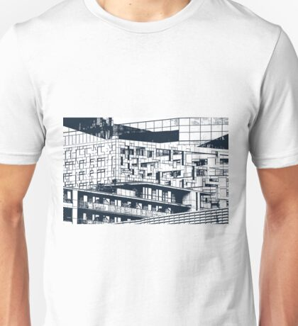 The Cube, Birmingham city centre UK architecture, digitally edited Unisex T-Shirt