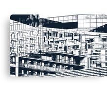 The Cube, Birmingham city centre UK architecture, digitally edited Canvas Print