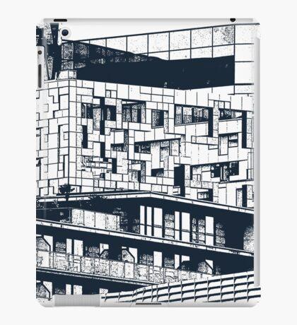 The Cube, Birmingham city centre UK architecture, digitally edited iPad Case/Skin