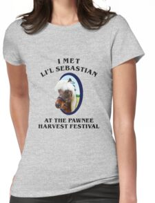 Met li'l sebastian at pawnee harvest festival Womens Fitted T-Shirt
