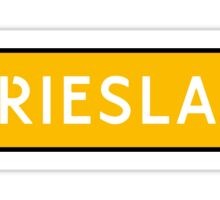 Friesland Kenteken Sticker