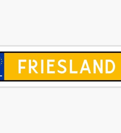 Friesland Kenteken Sticker