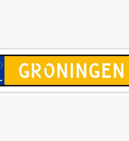 Groningen Kenteken Sticker
