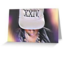 Bruno Mars 24k Magic part II Greeting Card